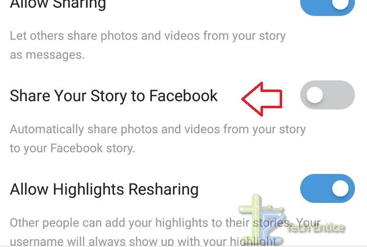 Instagram share to facebook