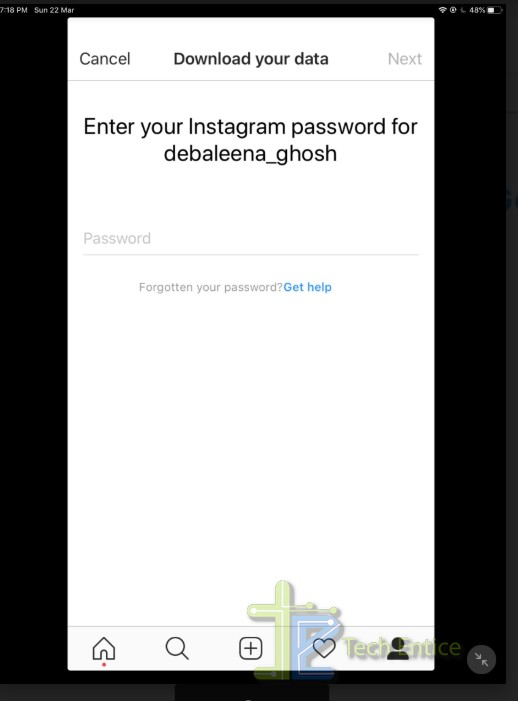 How To Download Your Instagram Account Data in iOS/ iPadOS