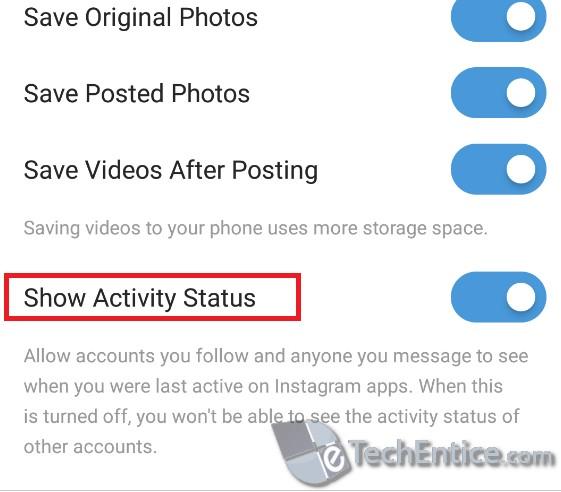 show activity status