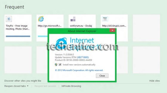 internet explorer 11 in windows 8.1