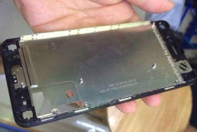 Iphone 6 front frame image leaked: indication of a 5.5 inch display
