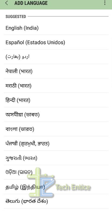 select one language Add A New Language To Your Android Device