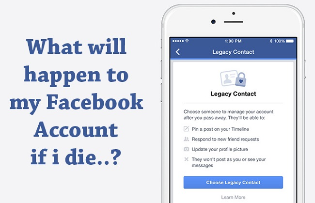 Your loved one can manage your Facebook account even after your death with Facebook Legacy Contact