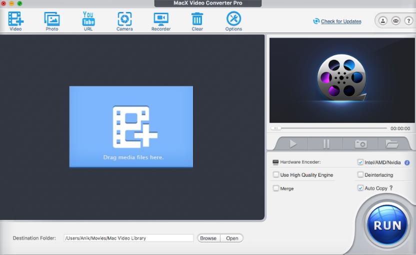 macx video converter pro user interface