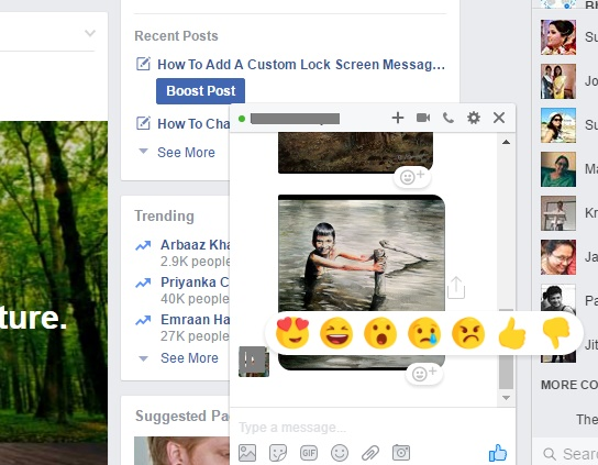 Facebook introduces Reactions in Messenger App