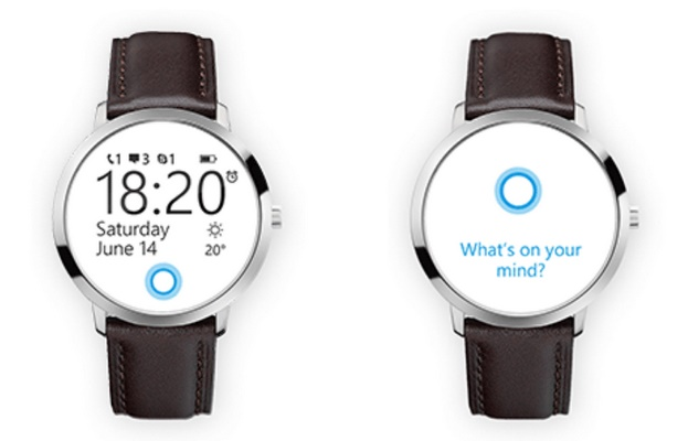 Microsoft smartwatch concept designs indicates the position of Cortana