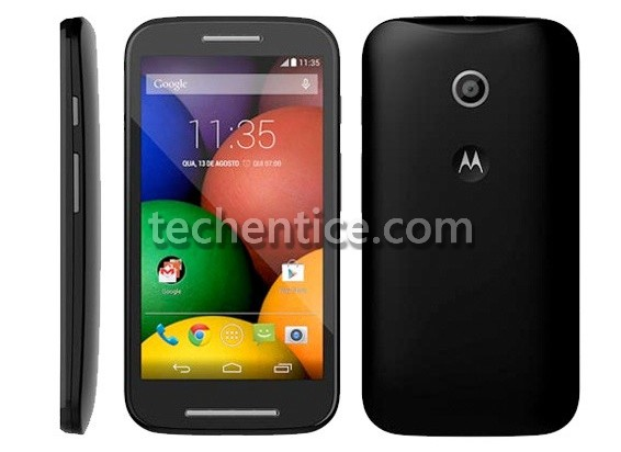 Moto E - an upcoming mass market smartphone from Motorola shows its face