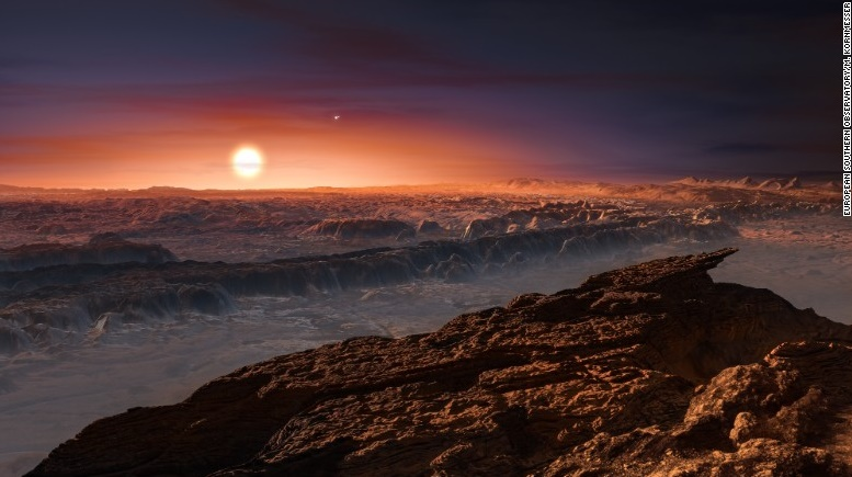 Earth-like planet orbiting around our closest star Proxima Centauri