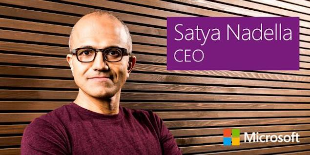Satya Nadella is named the third CEO of Microsoft