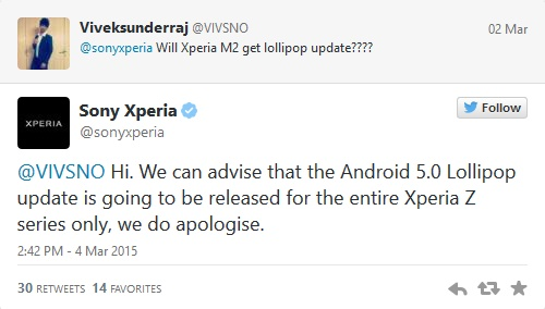 Many Sony Xperia handsets won't ever get Lollipop update