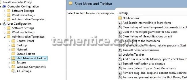 Start menu and Taskbar