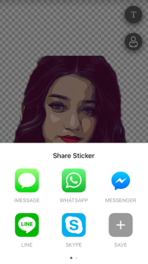 share stickert
