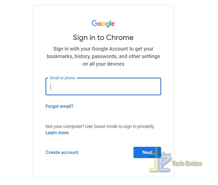 enter login credential