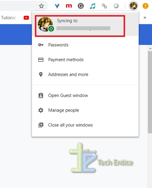 syncing to GOOGLE ACCOUNT