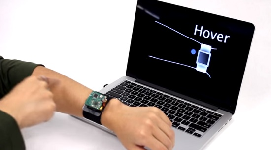 SkinTrack  Using your skin as touchscreen for your smartwatch