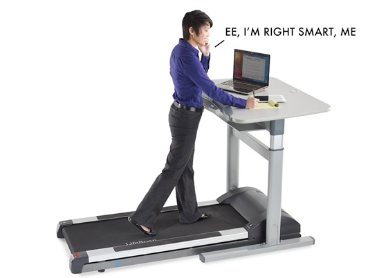 Now get smart with a treadmill desk