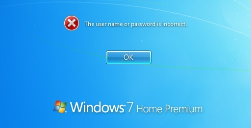 wrong Windows 7 password