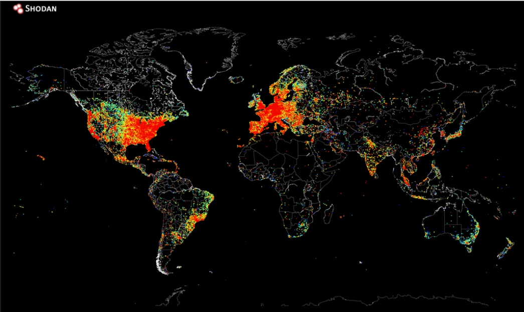 Internet Cartography: Map showing all devices connected to the Internet