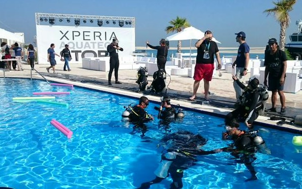 Sony launches a new underwater Xperia Aquatech Store at Dubai