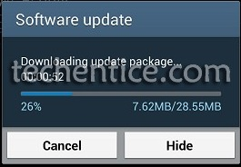 new firmware upgrade for Galaxy S4