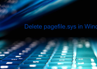Remove pagefile.sys in Windows 7