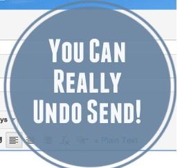 UNDO SENDING AN E-MAIL