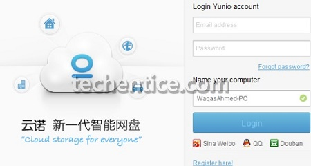 Yunio- A Cloud Storage Platform with 1TB free storage