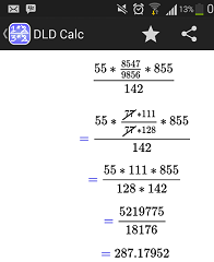 DLD CALC - Android Fraction Calculator app