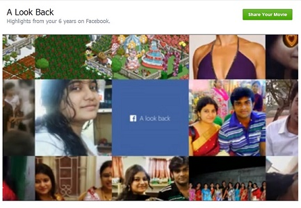 10th Birthday of Facebook - Mark gifts ''A Look Back'' to all users