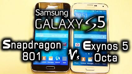 Galaxy S5 Snapdragon 801 vs Exynos 5422