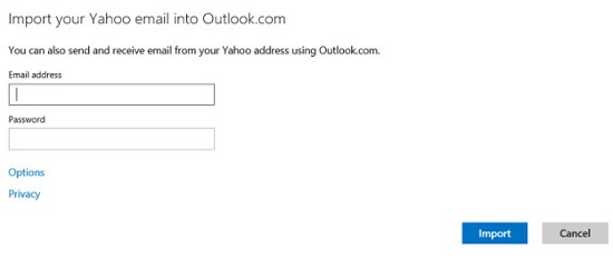 Microsoft adds way to import Yahoo Mail