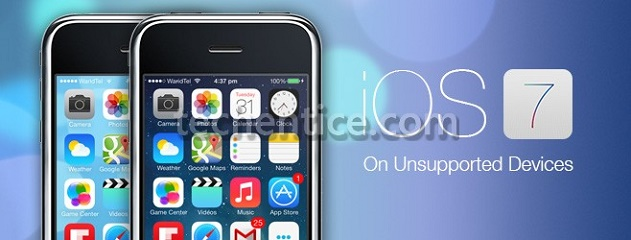 Get iOS 7 On iPhone 2G, 3G & iPod touch 1G, 2G With Whited00r 7