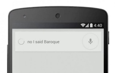 Google voice search learns to take corrections