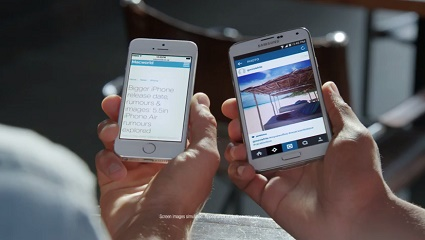 Samsung's video mocks iPhone for small displays