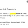 Apple iCloud account access notification mail
