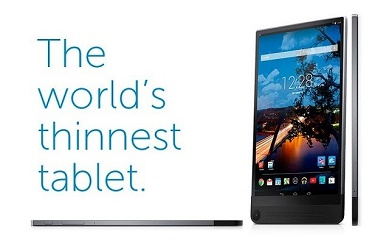 Venue 8 7000 Series tablet by Dell is claimed to be the world's thinnest tablet