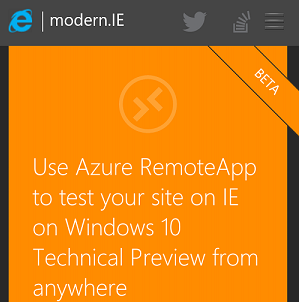 You can test the latest version of Internet Explorer on any platform with Microsoft RemoteIE