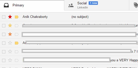 Extra Stars can be added for better Gmail sorting