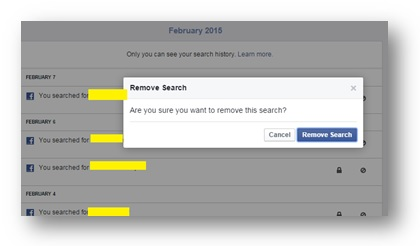 How to delete Search History on Facebook?