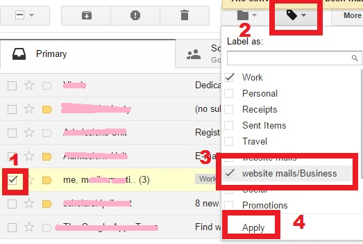 How to assign labels to Important mails in Gmail