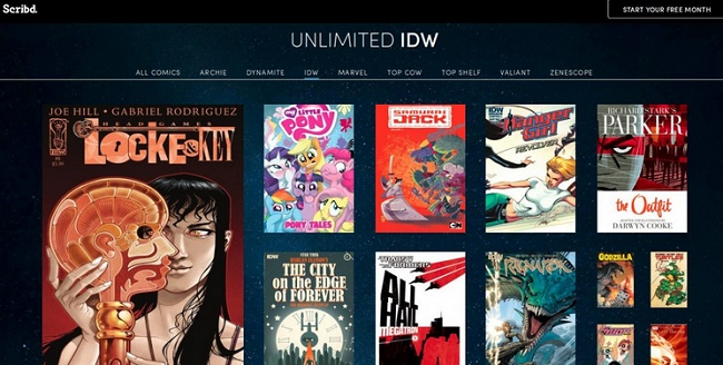 Scribd: Launches New Comic Section hits 1 million titles