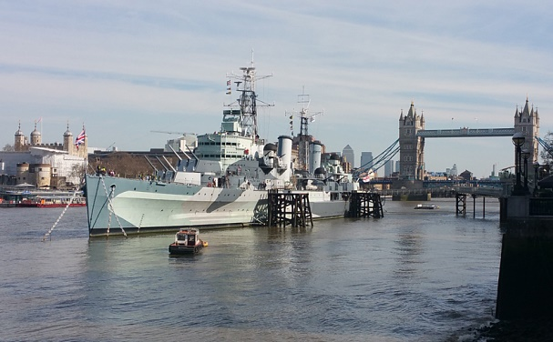 Cyber War Games hosted by UK, with a battleship that has been withdrawn from service