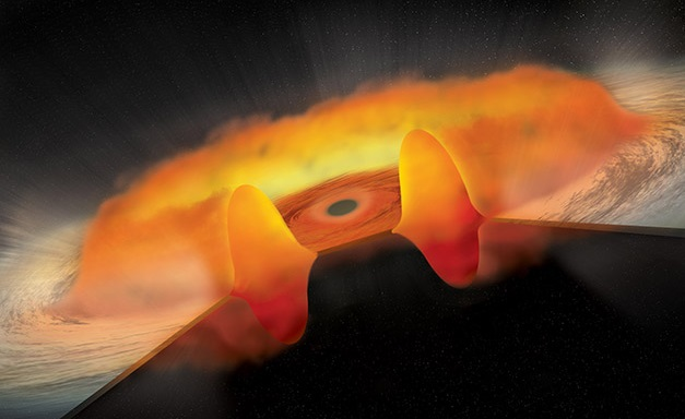 Greedy black holes guzzling up massive clouds and dust donuts