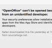 unidentified developer Mac OS X