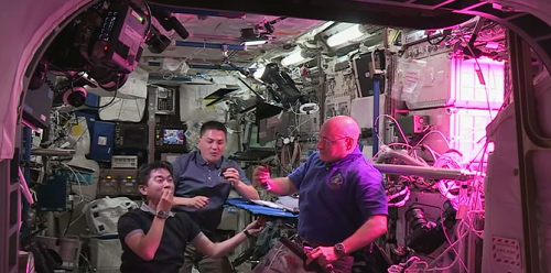 Astronauts finally eating space grown lettuce amid joy and satisfaction