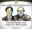 Takaaki Kajita, The University of Tokyo and Arthur B. McDonald, Queen's University are awarded the Nobel Prize for Physics 2015