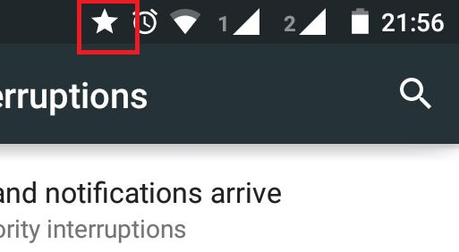 Star Symbol In Moto G Interruptions And More