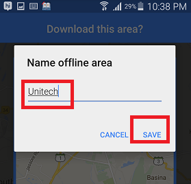 How to download the map of an area in Google Maps and use it offline?
