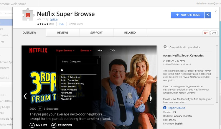 How to browse Netflix secret genres with browser extension? (Chrome)