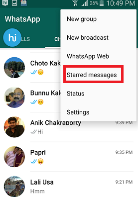 How to Bookmark WhatsApp messages in iOS and Android?